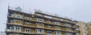 oak scaffolding